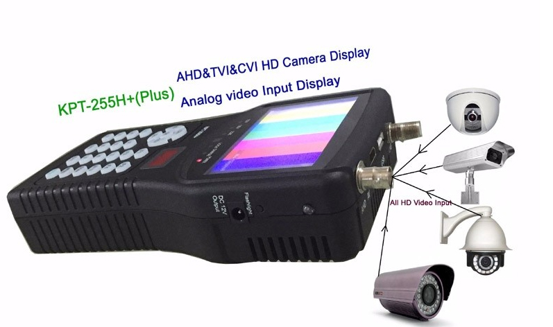 kpt 255h plus kpt 255+ sat finder hd test cctv camera lcd backlight button 4.3 inch DVB S/S2 signal test with av usb