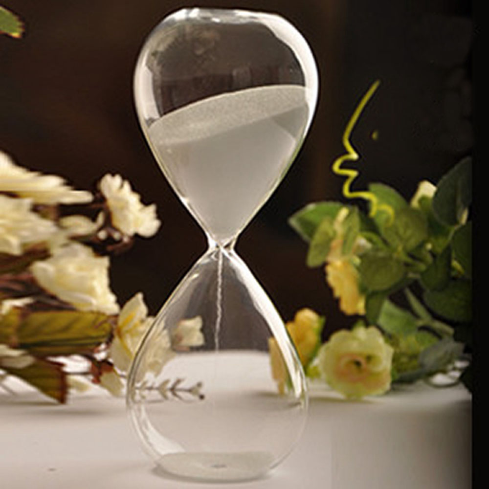 5 minutes transparent glass sand timer clock hourglass for Home decor 5 minute crafts