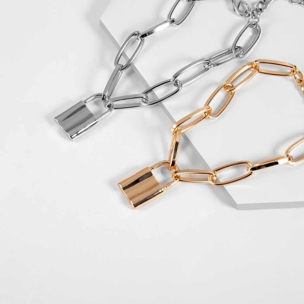 Ingemark の恋人のロックペンダントブレスレット腕輪カップルチャーム彫恋人ハートチェーンブレスレット女性ジュエリーギフト 2019