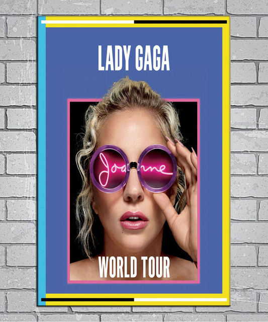 6b670717aa66a Lady Gaga Joanne World Tour 2017 Music Light Canvas Custom Poster 24x36  27x40 inch Home Decor N101