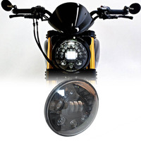 Motorbike Accessories 7 Angel Eye Headlamp For Harley Softail Touring Trike Daymaker Projector 7 Inch LED Headlight