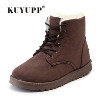 Winter Warm Snow Boot Indoor Outdoor Lace Up Boots For Women Shoes Flat Ankle Boots Comfortable