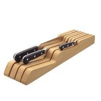 Solid Wood Drawer Type Knife Holder Kitchen Knife Tool Storage Rack Tableware Display Stand Bracket And Storage Rack