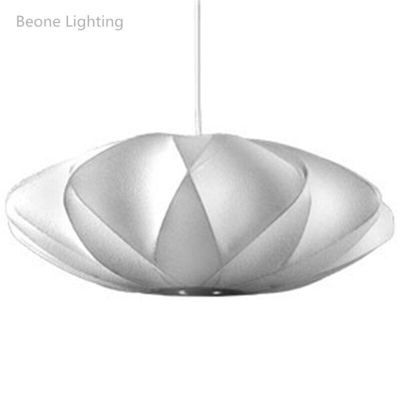 Livraison gratuite lampe à bulles Criss croix soucoupe soie suspension lumière blanche soie pendentif lumières suspension lampe suspension éclairage