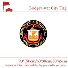 Bridgewater City Flag 90*150cm 60*90cm Massachusetts State Custom 3x5ft 100d Polyester 30*45cm Car For Home decoration