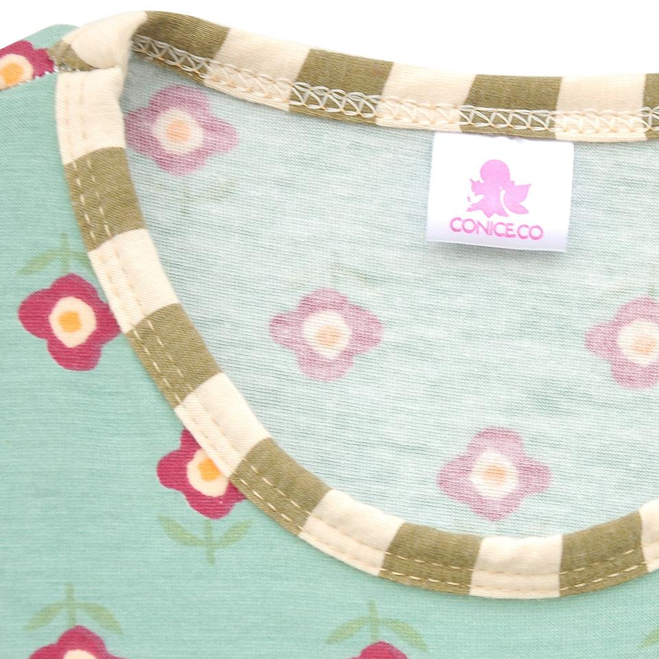 Senfkuchen-Mädchen-Outfits-Neue-Ankunft-Baby-Mint-Blumenmuster-schaukel-Top-Rüschen-Baumwolle-Hosen-Kleidung-Kinder-Herbst (2)