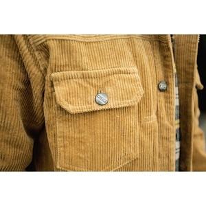 Image 5 - رجل بلون سروال قصير سترة 2018 الخريف والشتاء عالية الشارع المد الذكور BF الرجعية غسل متعددة جيب فضفاض جاكيتات الملابس