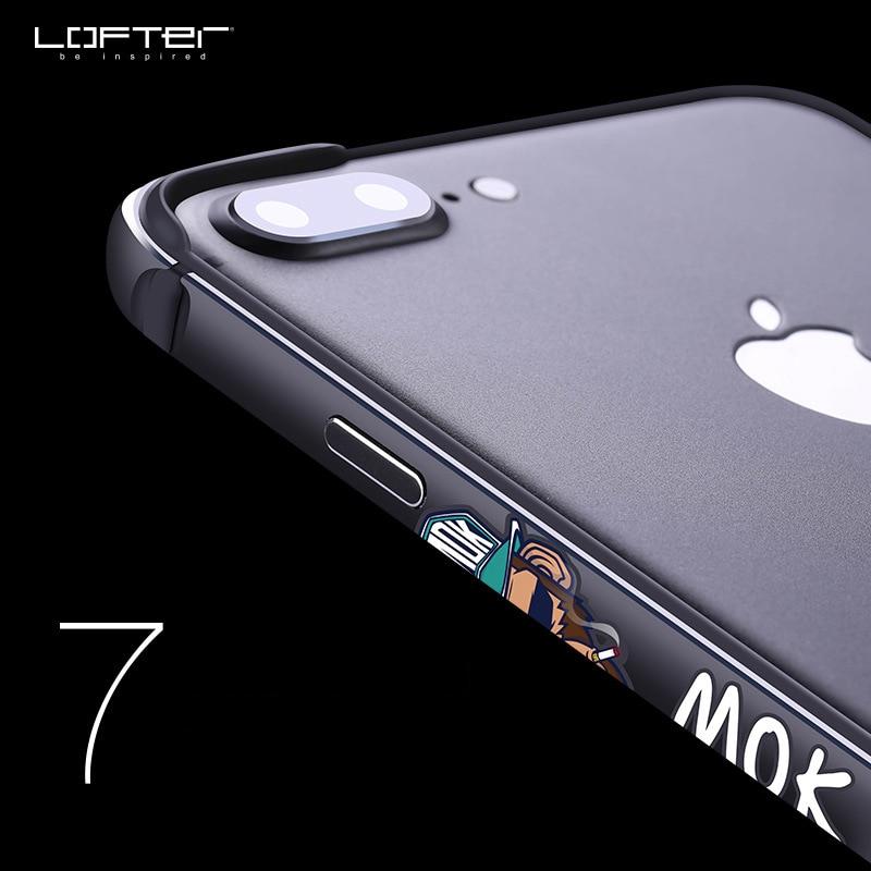 Pare chocs en m tal Ultra mince pour iPhone 7 7plus cadre en aluminium de Style