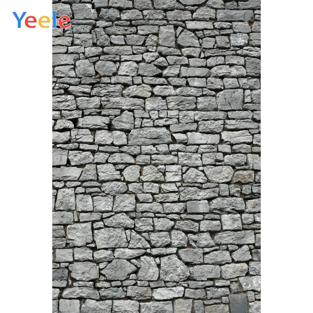 Yeele Grunge Gray Stone Brick Wall Scene Retro Baby Photography Backgrounds Personalized Photographic Backdrops For Photo Studio-in Background from Consumer Electronics