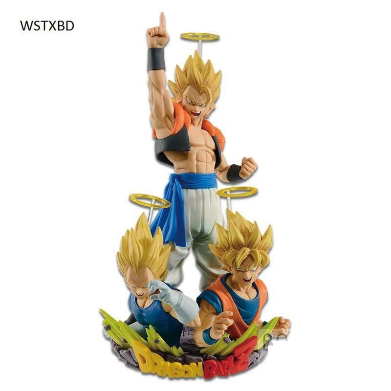 WSTXBD BANPRESTO Original Dragon ball Z SSJ Gogeta Goku &Vegeta  PVC Figure Toys Figurals Model Kids Dolls dragon ball z figurines son goku gogeta