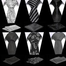 2019 New Arrival Men's Ties  Black Mens Wedding Neckties 7.5cm Necktie Business Silk Ties For Men Tie 7 5cm necktie business silk ties for men tie 2019 new arrival men s ties pattern black men wedding neckties