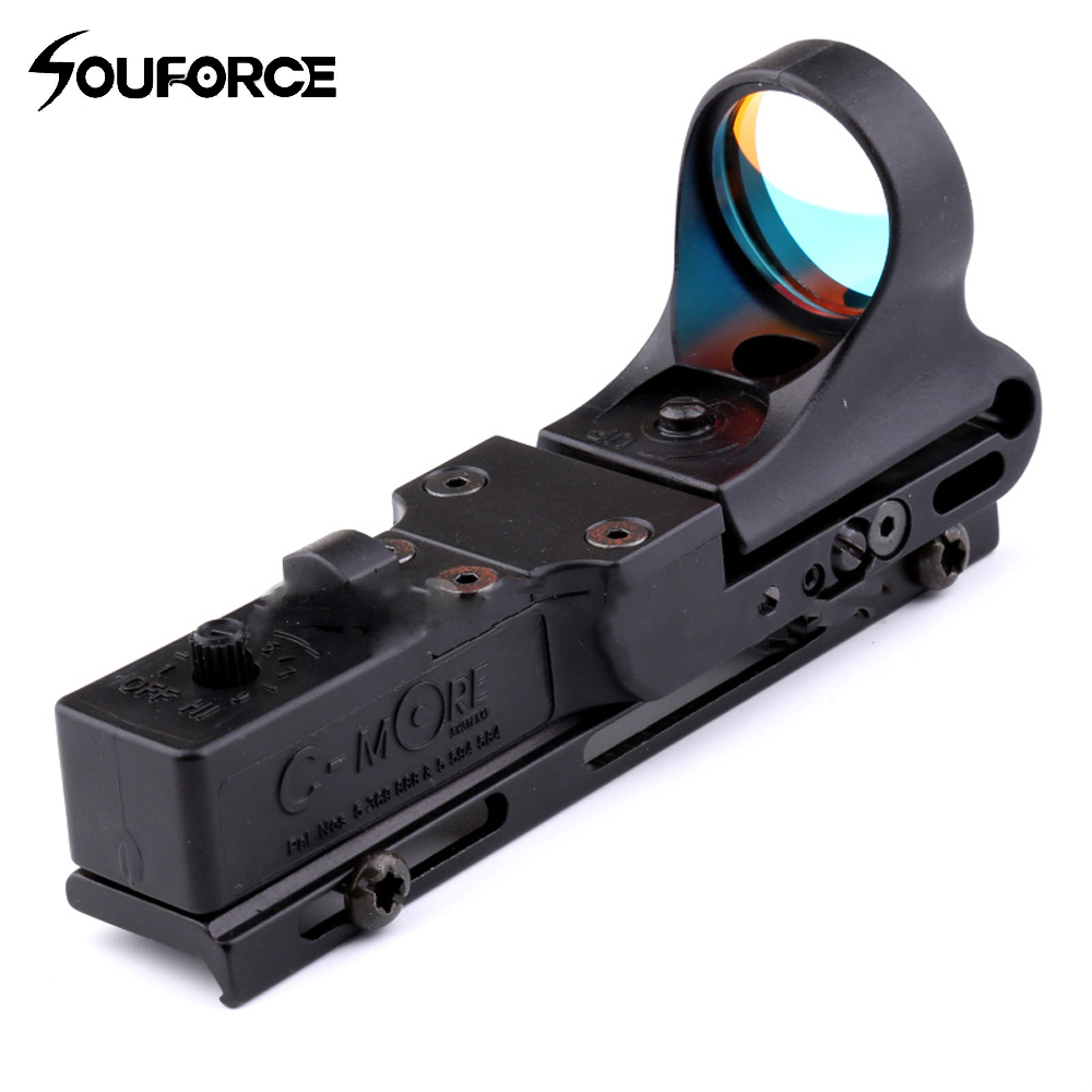 Tactical Red Dot 9 Brightness Control C MORE Adjustable Reflex Holographic Sights Fits 20mm Rails for