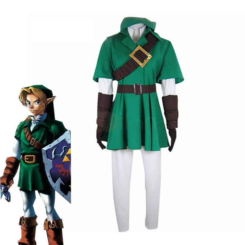 Hot Game The Legend of Zelda Link Cosplay Costume Halloween Carnival Uniforms Adult Unisex Fancy Outfits Custom Made Full Set
