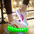 Unisex Light Led Shoes Women Casual Lumineuse Luminous Lighted Shoes for Adults with Led Light Shoes Luminous Recharging Flats