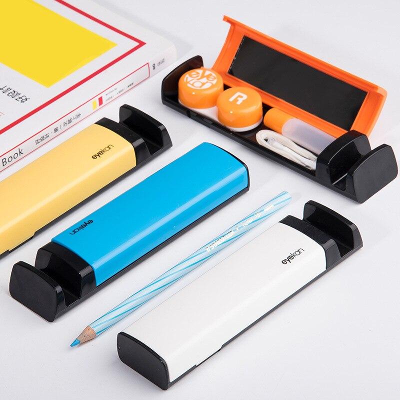 Étui pour lentilles de contact de couleur pour les yeux pour lentilles conteneur lentilles de contact nettoyant lentille voyage miroir kit de voyage pour lentilles