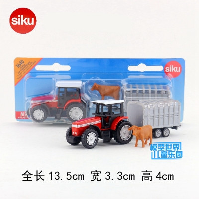 SIKU 1640/DieCast Metal Model/Farm Tractor And Livestock/German Toy Car For Children's Gift/Educational Collection/Small