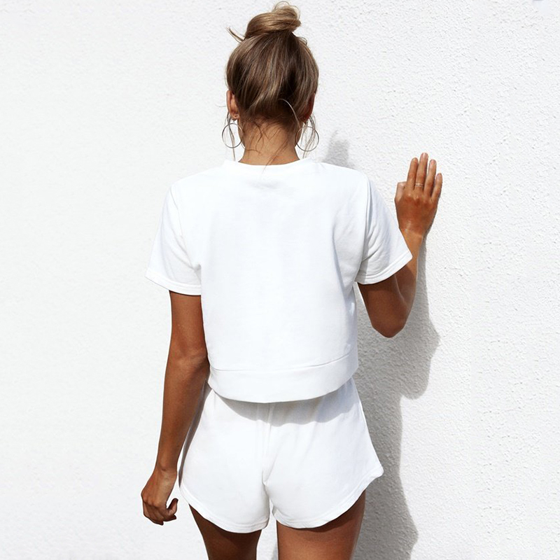 Womens T-shirt Slim Nude corn bandage casual wild pure color shirt spring and summer womens clothing