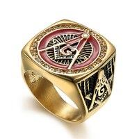 Religiöse Schmuck Ring Freimaurer AG Titan Ring Übertrieben AG männer ring (RI103126)