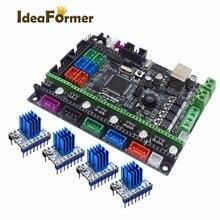 Mks gen l v1.0 placa integrada do pwb do controle rampas 1.4 + 4 pces a4988/drv8825/tmc2208/tmc2130 driver para peças da impressora 3d