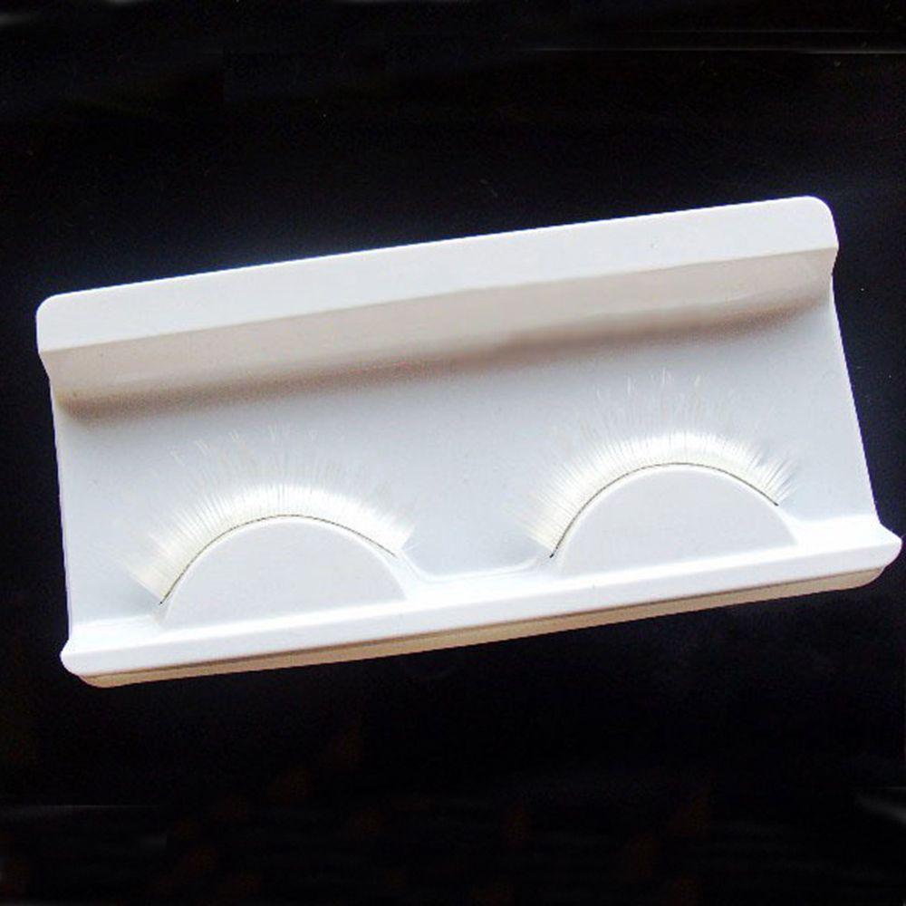 1 Pair/pack White Cosplay False Eyelashes Fake Eyelashes Fancy Dance Stage Makeup Extension False Eyelash