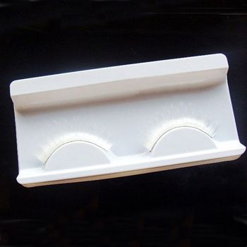1 Pair/pack White Cosplay False Eyelashes Fake Eyelashes Fancy Dance Stage Makeup Extension False Eyelash