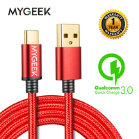 MyGeek USB Type C Cable Type-c Cables for Samsung Xiaomi mi5 Oneplus Meizu LG Nexus 5x Huawei letv usb-c wire mobile phone cable