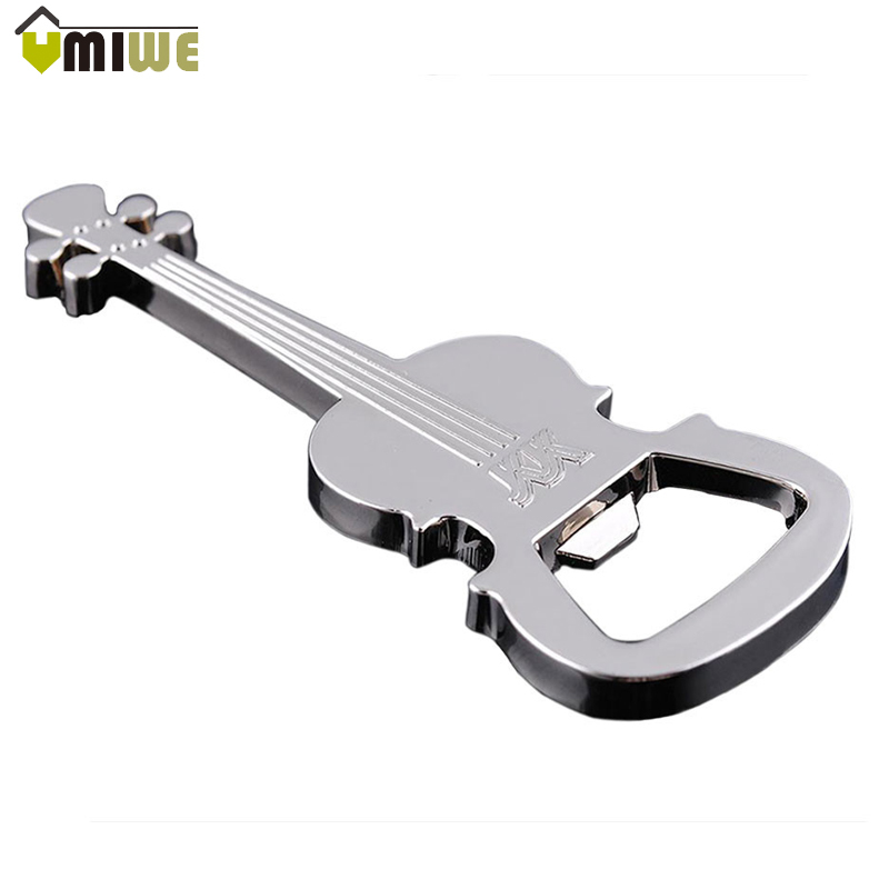 2016 Hot Sale Keychain High Quality Silver Creative Multifunctional Guitar Bottle Opener Key Chain Exquisite Gifts Key Rings