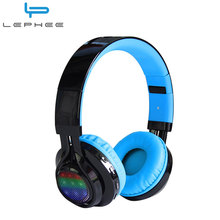 LEPHEE Wireless Headphone Bluetooth Headset AB005 3.5MM Super Bass Sound Luminous LED Light Foldable Headphones+Mic for iPhone 7