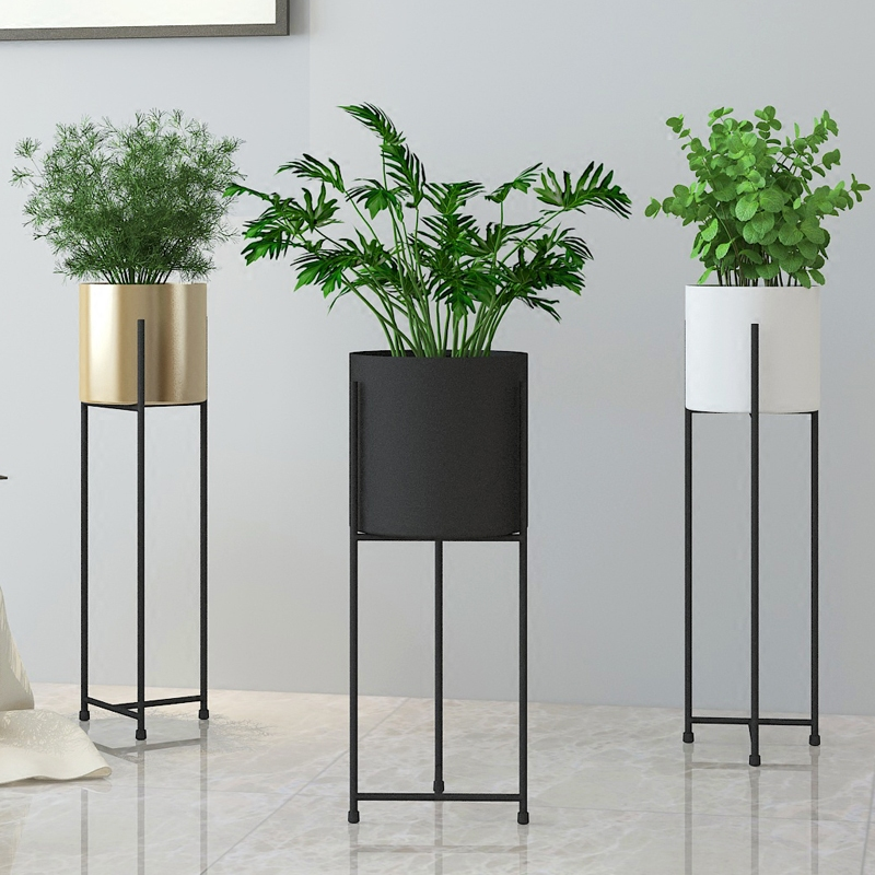 Modern design Loft Metal Flower Plant Shelf Rack, floor Stand Side ...