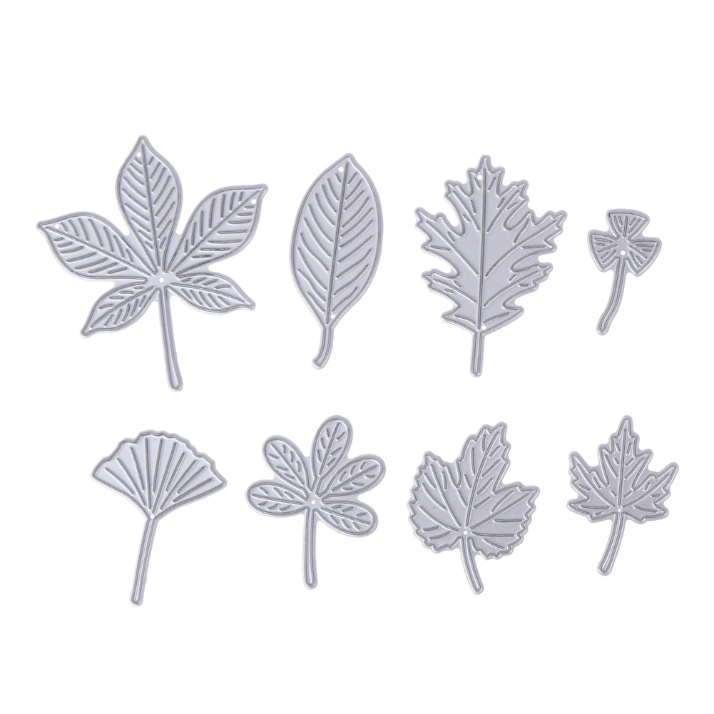 Hearty Flowers Trees Leaves Metal Cutting Dies For Diy Scrapbooking Plant Stamp Steel Embossing Craft Greeting Cards New 2018 Moderate Cost Electronic Components & Supplies