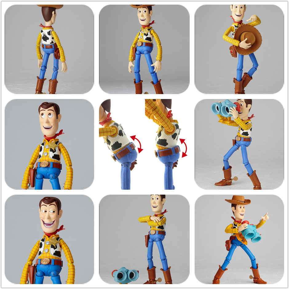 SAINTGI STORY 3 Woody Smile Face Change Movie Lotso Jessie Dinosaur Buzz Lightyear Action Figures Mini PVC 16CM Kids Toys anime figure toy story 3 buzz lightyear and woody doll led alarm clock color touch light movie figurines toys for boys gift