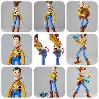 SAINTGI STORY 3 Woody Smile Face Change Movie Lotso Jessie Dinosaur Buzz Lightyear Action Figures Mini