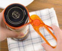 1PC Bottle Opener Anti-slip Can Lid Opener for Beer Bottle Jar Opener Kitchen Accessories Random Color OK 0906