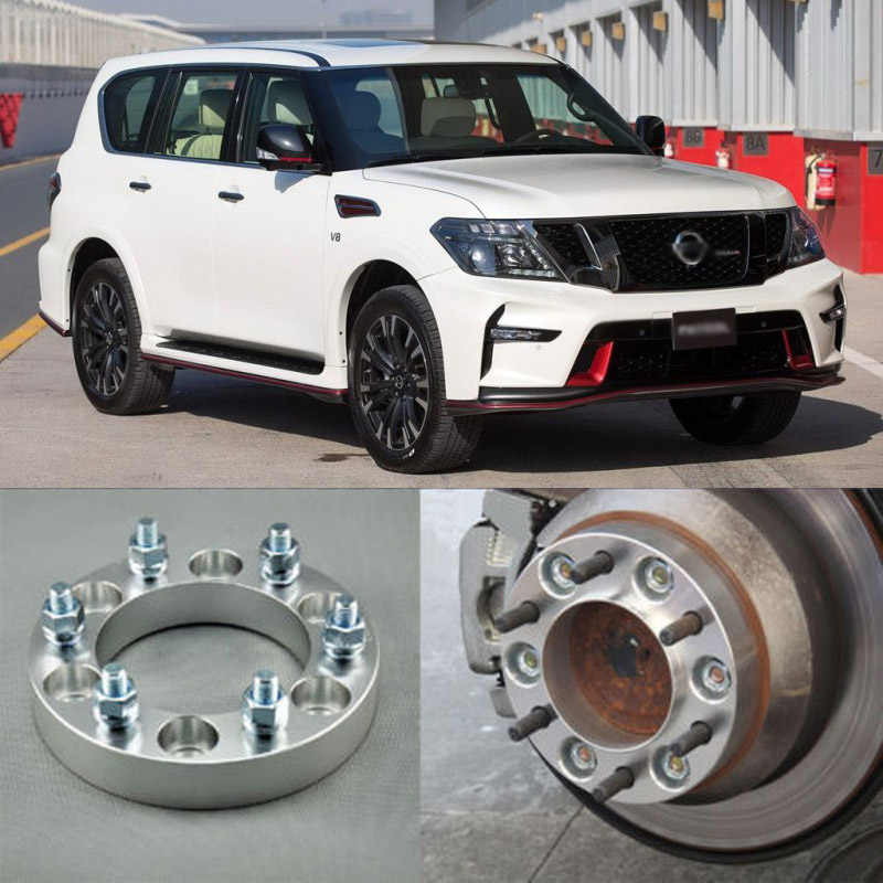 """2pc 50mm 1.5/"""" inch 6x114.3 Wheel Spacers 12x1.25for Nissan Truck SUV Adapters"""