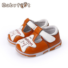 Babyfeet Baby Boys Girls First Walkers Soft Sole Infant Toddler Cute Star Design Single Shoes Leather Anti-skid Prewalker