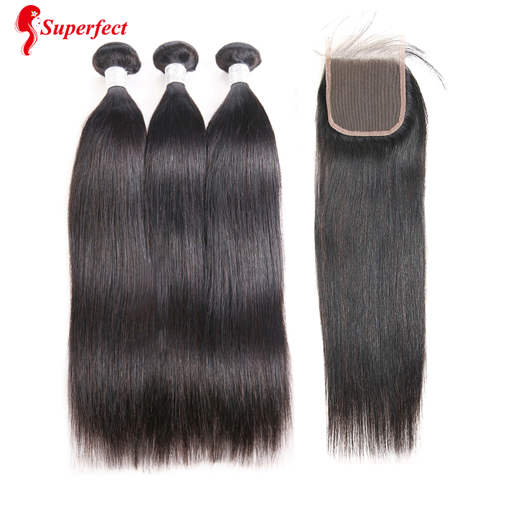 Brazilian Straight Hair Bundles With Closure Human Hair Bundles With Closure 3 Bundles With Closure Remy