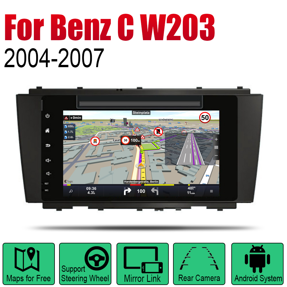 Android Car DVD GPS Navi For Mercedes Benz C Class W203 2004 2007 NTG player Navigation WiFi BT Mulitmedia system audio stereo in Car Multimedia Player from Automobiles Motorcycles