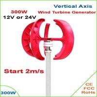 Precio Turbina aerogeneradora de eje Vertical VAWT300W 12/24V generador de viento ligero y portátil fuerte y silencioso