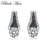 Office 3.5g 925 Sterling Silver Fine Jewelry Trendy Engagement Earrings for Women Female Wedding Earrings T060