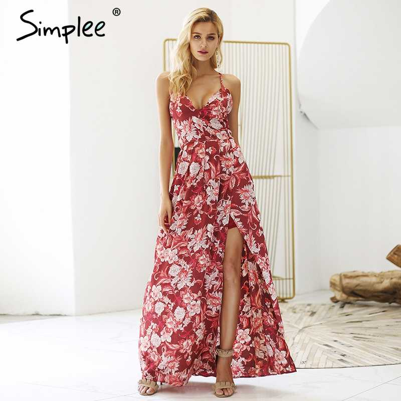 6367220bdbebe Detail Feedback Questions about Simplee Sexy deep v neck boho dress ...