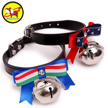 ФОТО dog bell collar cat collar belt bell small dog teddy collar supplies ring collapsibility free shipping 2 color  dog bell collar
