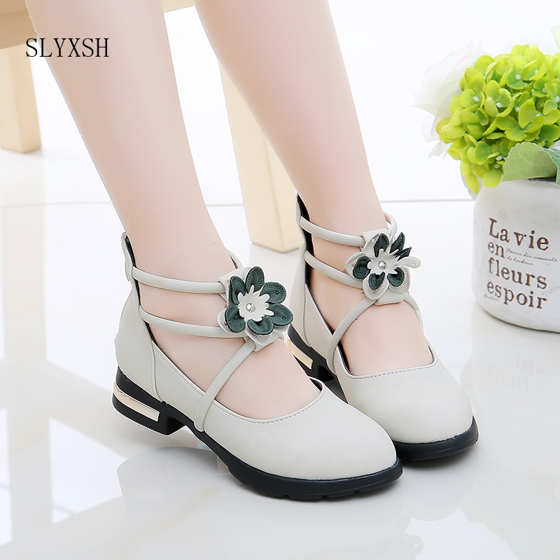 SLYXSH Girls Shoes For Party Ankle Strap Leather Shoes Big Girls Princess Shoes Butterfly-knot Dress Shoes Baby Kids 2-14 YearsSLYXSH Girls Shoes For Party Ankle Strap Leather Shoes Big Girls Princess Shoes Butterfly-knot Dress Shoes Baby Kids 2-14 Years