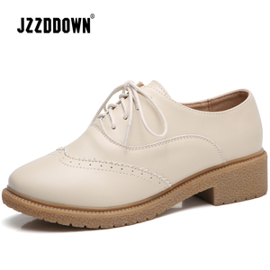 Image 3 - JZZDDOWN womens shoes genuine leather oxford shoes for women Ladies moccasins Female Women leather shoes Luxury Brogue