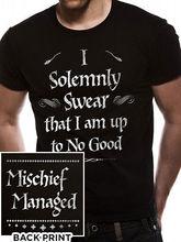 613f7269d Solemnly Swear Mischief Managed Official Hogwarts Black Men T-shirt(China)