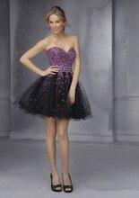 2016 schimmernde Schatz Cocktailkleider Organza Reine Handgemachte Kundenspezifische Perlen Cocktailkleid A-Line Kurzes Kleid Für Party