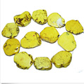 Loose Beads 20x35mm Yellow Turquoise Slice Stone Freeform Slab 40cm/16inch Exaggerate Stone