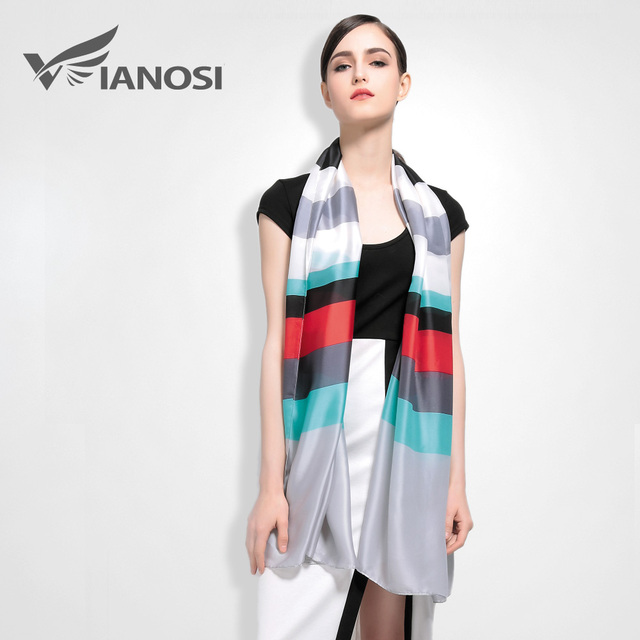 [VIANOSI]  Fashion Scarves Woman High Quality Silk Scarf Brand Foulares Women Bandana Luxury Package VA004