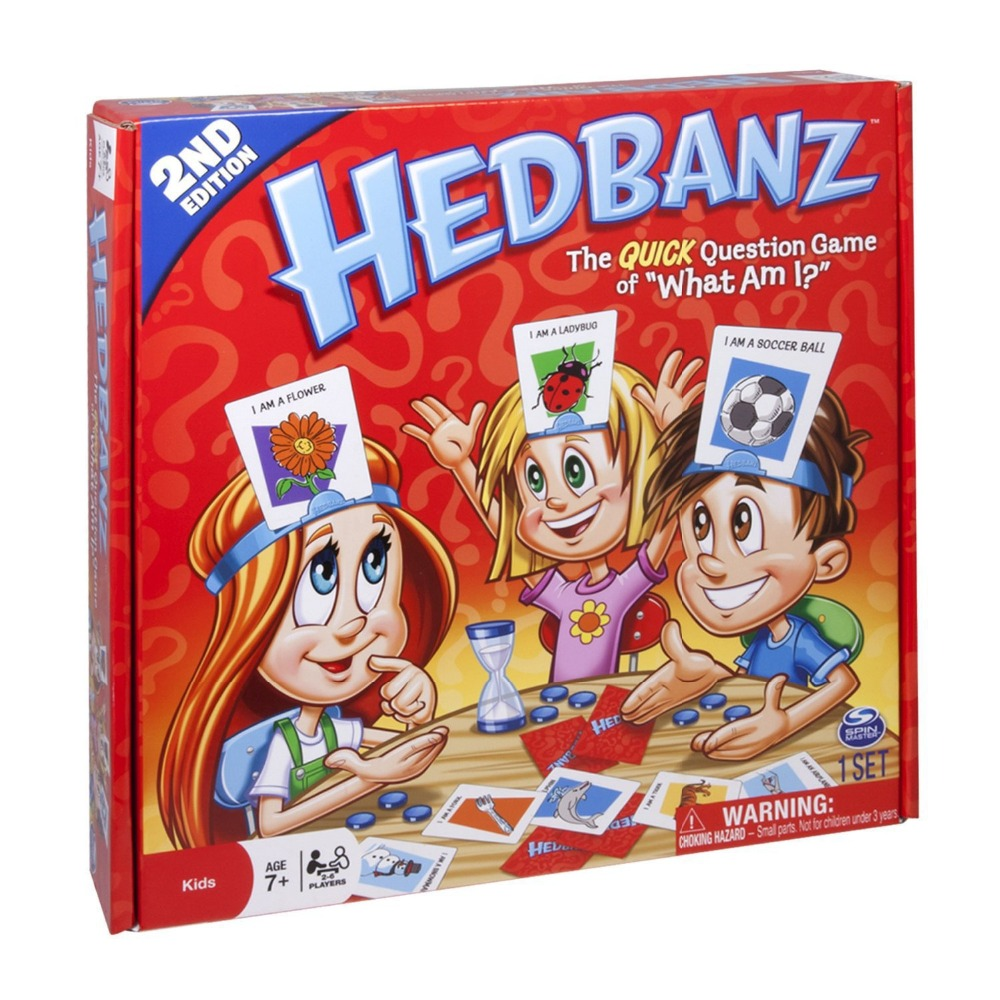 74 cards HEDBANZ GAME What am I party game Travel game for kids adult Family Fun Kill time toy TV Show Guess who game