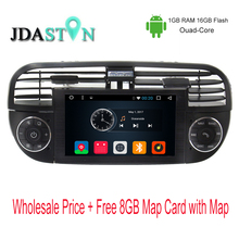 JDASTON 6,2 Zoll 1 Din Android 6.0 Auto GPS-Navigation Für Fiat 500 Abarth 2007 2008 2009-2015 Multimedia Radio Canbus SWC USB