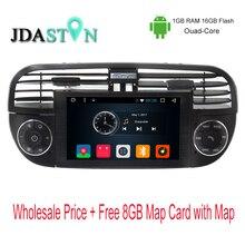 Jdaston 6.2 дюймов 1 DIN Android 6.0 автомобиль GPS навигации для Fiat 500 ABARTH 2007 2008 2009-2015 мультимедиа радио Canbus SWC USB